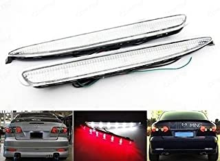 LEDIN Atenza 03-08 Mazda6 GK2A-51-5L0 OEM Replacement Clear Lens Rear Bumper Reflector LED Backup Tail Brake Light