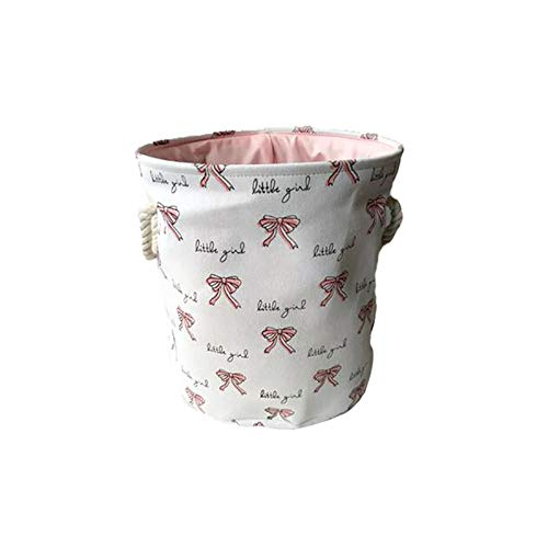 LZZDZK Cesta de lavandería Rosa Ropa Sucia Ballet de algodón Chica Bow Print Toy Organizer Almacenamiento y organización 35 * 40 cm (Color : 7)