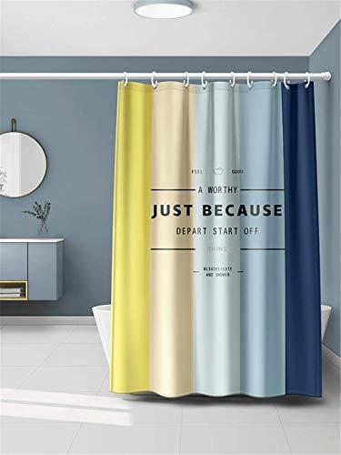 Xlabor Farbverlauf Duschvorhang 240x200cm Wasserdicht Anti-Schimmel Stoff inkl. 12 Duschvorhangringe für Badezimmer Motiv-C 180x200 cm