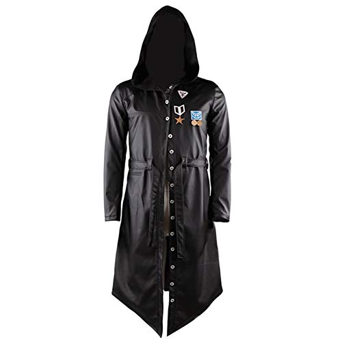 Laisla fashion Spiel Pubg Langer Mantel Pu Leder Cosplay Classic Trenchcoat Kostüm Herren Jacke Erwachsene Windjacke Verrücktes Kleid Kleidung (Color : Colour, Size : S)