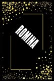 ROMINA (6x9 Journal): Lined Writing Notebook with Personalized Name, 110 Pages: ROMINA Unique personalized planner Gift for ROMINA Golden Journal ... for ROMINA , Lined Notebook /Journal