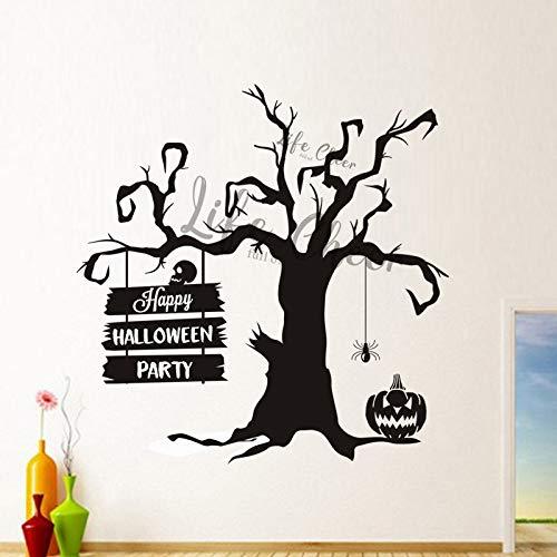Sanzangtang muursticker, voor feestdecoratie, welkom boom van vinyl, voor feesten, vakantie, afneembaar, muurtattoo