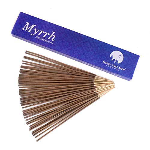 Three Wise Men All Natural Traditional Wood Incense Sticks - Myrrh 50 Sticks