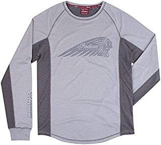 Indian Motorcycle Men's Long-Sleeve Performance Riding Headdress T-Shirt with UV Protection, Gray