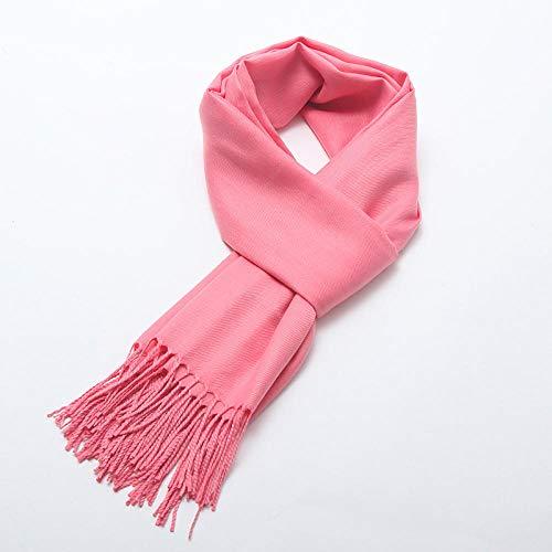 Bufanda femenina otoño e invierno color sólido imitación cachemira literaria salvaje larga habitación climatizada mantón cálido-14_Los 60 * 200cm
