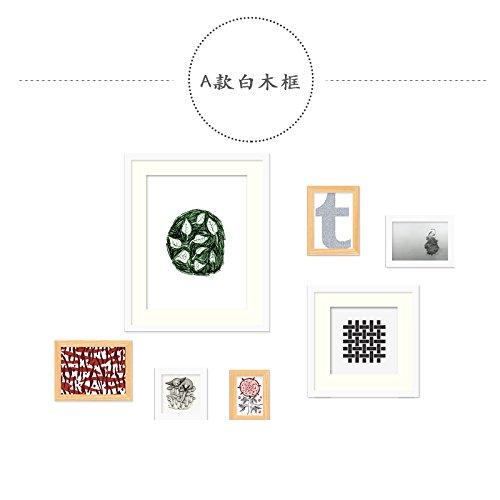 Fotolijst*De foto op de muur is een eenvoudige fotolijst, muur creatieve combinatie muur fotolijst wit houten kist