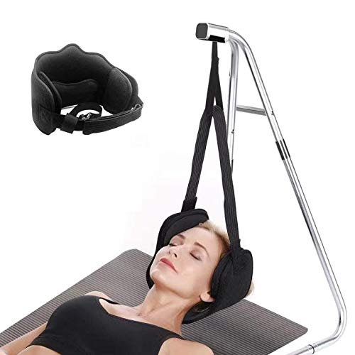 Neck Relief Hammock for Neck Pain Head Hammock for Headache Neck Support Portable Relieves Back and Shoulder Pain Without Stand (Black)