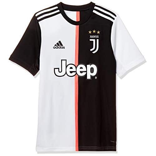 adidas Juventus Home Jersey Youth, Maglietta da Calcio A Maniche Corte Bambino, Nero/Bianco, 1516