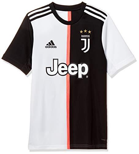 adidas Juventus Home Jersey Youth, Maglietta da Calcio A Maniche Corte Bambino, Nero/Bianco, 910A