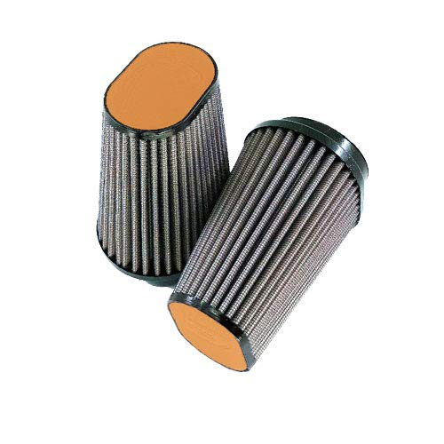 DNA Air Filter Oval,Clamp On 62mm Inlet for BMW R9T (14-17) Orange