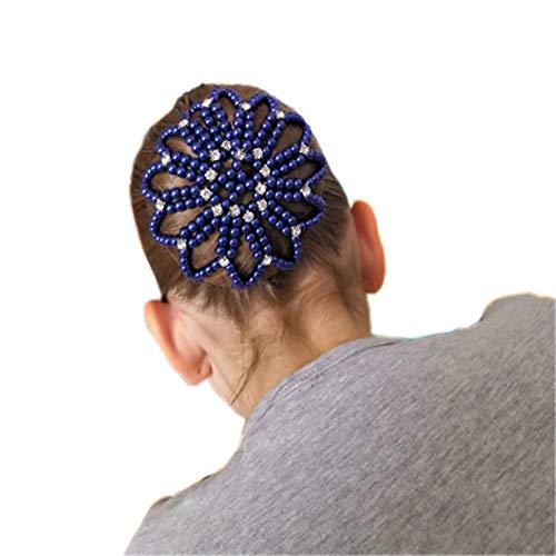 Elastic Handmade Crochet Pearl Hair Snood Net Ballet Bun Hair Covers Ornament Hair Accessories For Women