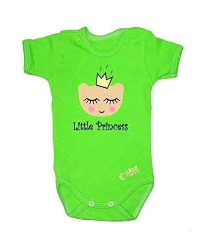 Colour Fashion Drôle Little Princesse Garçon Fille Unisexe Combinaison Manche Courte 100% Cotton Petit Bébé - 24 Mois 0033 - Vert, Tiny Baby, 52 cm