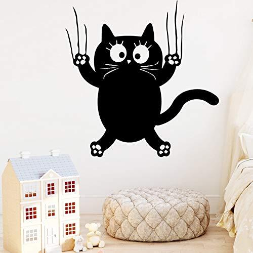Tianpengyuanshuai Romantische Katze Selbstklebende Vinyl Tapete Kinderzimmer Dekoration Tapete 45X45cm