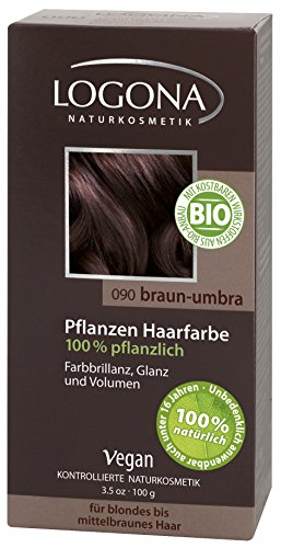 LOGONA Natuurcosmetica Coloration Plantenhaarverf, poeder (100g) 090, bruin-umbra