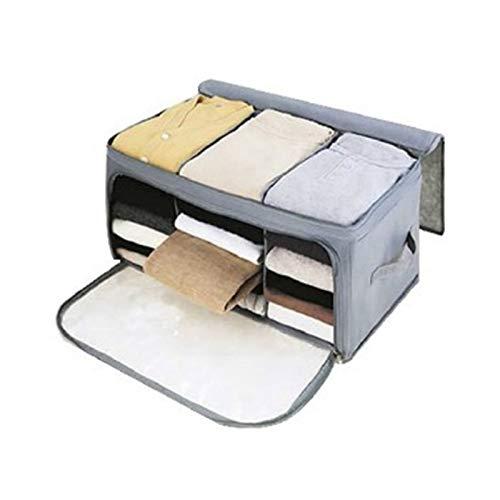 PPLAA Caja de Recogida de la Caja de Almacenamiento Plegable de Tela no Tejida Gris Caja de colección de Ropa con Cremallera Juguete Dries de Almacenamiento Organizador de Almacenamiento