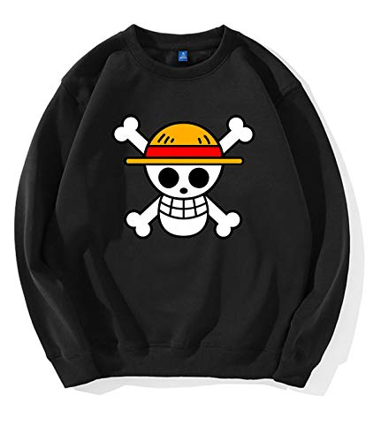 HuaXuKeJi One Piece Anime Hoodies Sweater for Mens XL Black