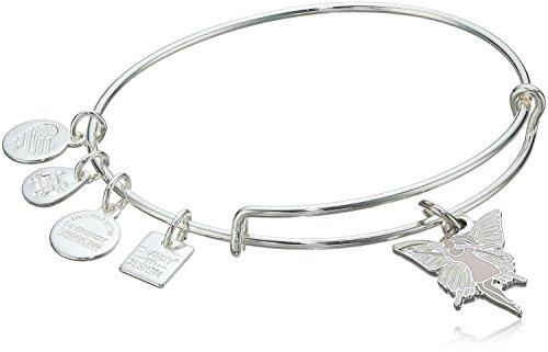 Alex and Ani Fairy Shiny Silver Bangle Bracelet