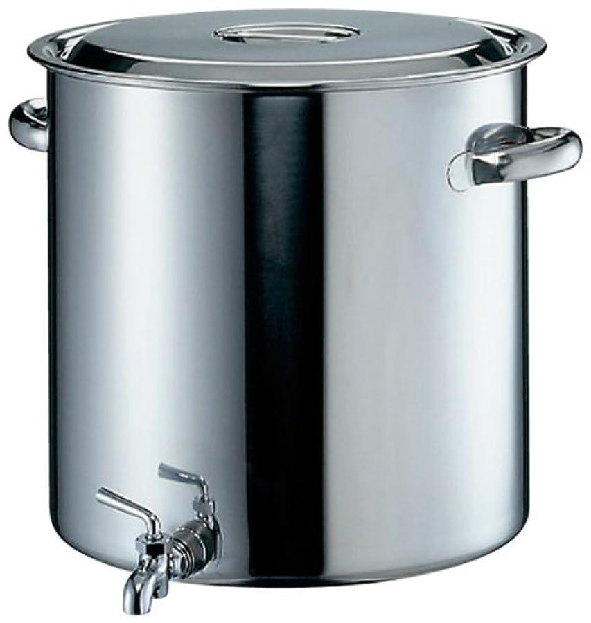 十分に食料品店お願いしますEBM 18-8 蛇口付寸胴鍋 目盛付 30cm(20L)