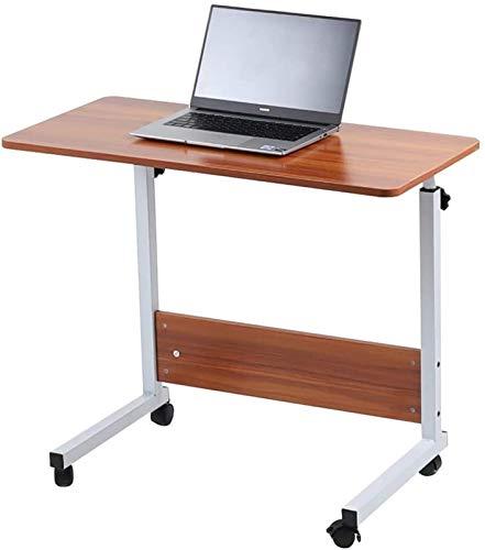 Móvil mesa de altura ajustable portátil mesa móvil for estaciones de trabajo escritorio de la computadora pequeña computadora Espacio for Ministerio de la sala ( Color : Oak , Size : 80 cm x 40 cm )