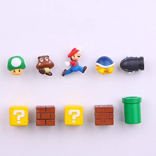 Si eres fanático de Super Mario Bros, este producto será una elección que no te puedes perder. Esta decoración para pasteles única en su tipo se ve muy bien en todos los pasteles de fiestas y eventos que rodean tu gran día, y también es un recuerdo m...