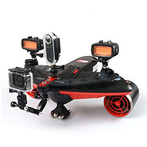 Scooter Subacuático Motores Duales para Adultos Niños Sea Scooter Pantalla OLED 40M Impermeable 3 Niveles Velocidad 2m / S Montaje De Cámara Recargable Drone Eléctrico para Buceo Fotografía Deportes