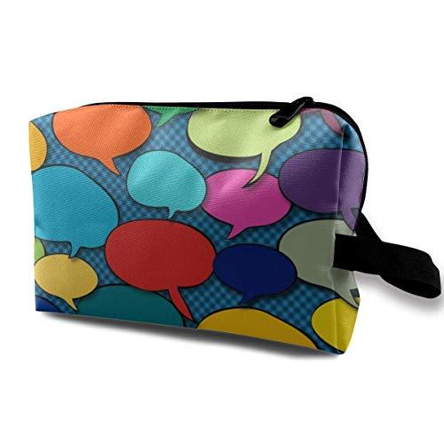 Hipiyoled Colors Speak to Me_895 Trousse de Toilette Trousse de Toilette Trousse de Maquillage Portable Pochette de Voyage à Suspendre Organisateur Sac pour Femme Fille 10x5x6.2 Pouces