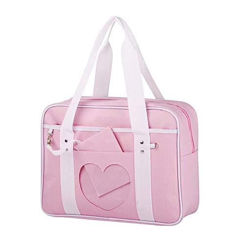 Ita Bag Herz japanische Tasche JK Tasche Mädchen Duffle Geldbörse Anime Schultasche Lolita DIY Cosplay Comic Con, Z-light Pink, Einheitsgröße