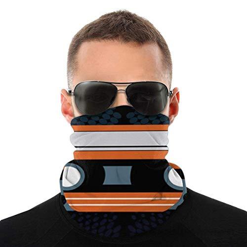 OUY Cinta de casete diseño transpirable protector de cuello protector de pierna máscara facial bufanda turbante pasamontañas sombrero bufanda hombres y mujeres máscara facial