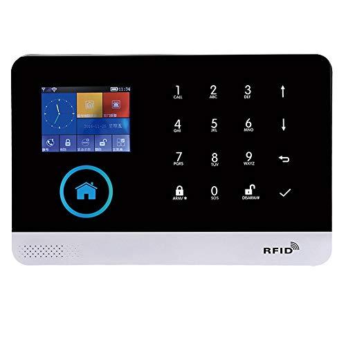 Smart 433MHZ Kit de sistema de alarma PIR inalámbrico sensor de puerta, 2.4 TFT pantalla a color GSM + GPRS + WIFI Alarma de seguridad de video inteligente(EU)