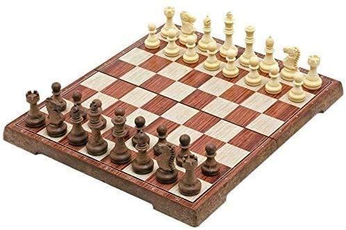 GLXLSBZ Juego de ajedrez, Tablero magnético de ajedrez Internacional Torneo de Viaje Juego de ajedrez Nuevo Tablero doblado de ajedrez Juego de ajedrez magnético Internacional GIF de Juego