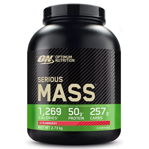 Optimum Nutrition Serious Mass Protein Powder High Calorie Mass Gainer with...