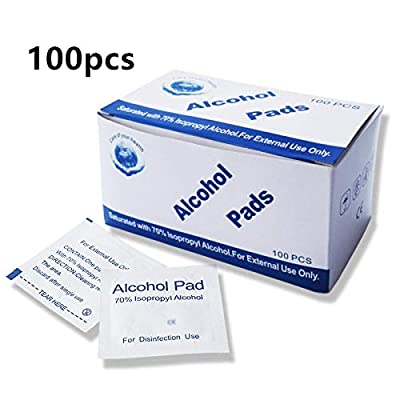 100pcs/Box Antibacterial and Antiviral Alcohol Wipes, Disposable Cotton Swabs, Portable Sterilizing Wipes, Hand-Cleaning Alcohol Wipes, Wipes 6 * 3 cm by ZNKJ
