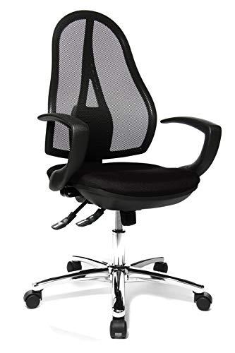 Topstar OP290QG20 Open Point SY, Bürostuhl, Schreibtischstuhl, ergonomisch, inkl. Armlehnen, Stoffbezug, schwarz