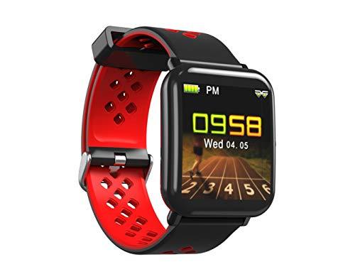 Lemonda D6 - Smartwatch per 40 giorni di autonomia IP68, impermeabile, fitness, sport, contapassi, cardio, frequenza cardiaca, Bluetooth, per iOS Android, iPhone, Samsung, Huawei