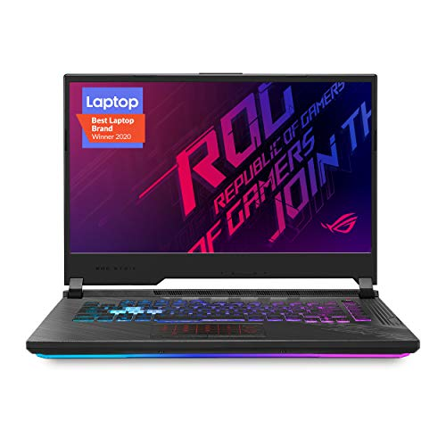 "ASUS ROG Strix G15 (2020) Gaming Laptop, 15.6"" 144Hz FHD IPS Type Display, NVIDIA GeForce RTX 2060, Intel Core i7-10750H, 16GB DDR4, 512GB PCIe NVMe SSD, RGB Keyboard, Windows 10 Home, G512LV-ES74"