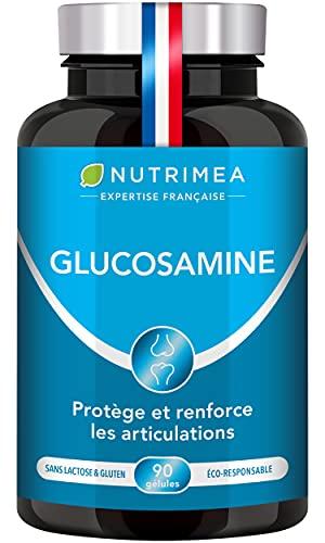 Complexe Glucosamine, Chondroïtine, MSM, Manganèse - Formule unique 4 actifs - Contre Douleurs articulaires, Arthrose, Tendinite - Reconstitution cartilage - 90 gélules végétales - Fabriqué en France