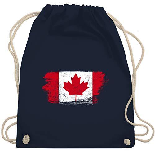 Städte & Länder Kind - Kanada Vintage - Unisize - Navy Blau - kanada geschenke - WM110 - Turnbeutel und Stoffbeutel aus Baumwolle