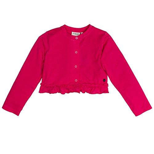 Salt & Pepper Mädchen Bolero Wonderful Uni Rüschen Jacke, Rosa (Raspberry Melange 871), 104 (Herstellergröße: 104/110)