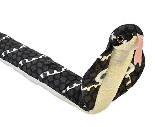 Wild Republic 20730 Cobra Peluches Snakess Kobra Schlange Plüsch, 137 cm