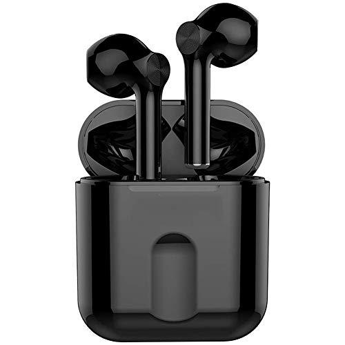 Auriculares inalámbricos NLRHH, estéreo, de alta fidelidad, plegables, inalámbricos, con cable, micrófono y tarjeta Tf-compatible para PC, ordenador portátil, TV (color negro).