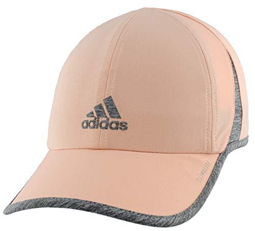adidas Damen Superlite Cap, Damen, Mütze, Superlite Relaxed Adjustable Performance Cap, Glow Pink/Heather Grey, Einheitsgröße
