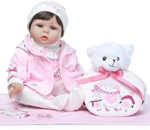 SERBHN Reborn-Baby-Puppen 20 Zoll Reborn Baby Doll Mädchen Naturgetreue Neugeborenes Mädchen-Spielzeug-Puppe Dieses Blick Echtkinder Vinyl Geburtstags-Geschenk