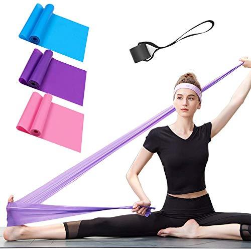 Bandas Elasticas Fitness Set de 3 Resistencias Látex Banda de Ejercicios Yoga Pilates Bands pa...