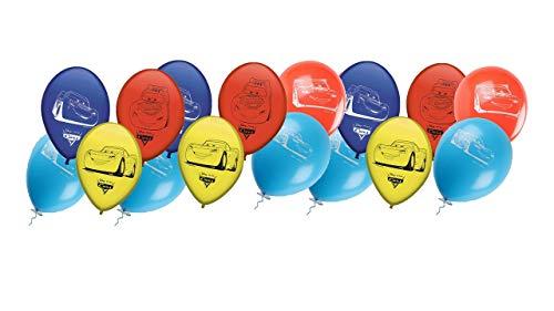ALMACENESADAN 0673, Pack 16 Globos Disney Cars; para Fiestas y cumpleaños. Ideal para Decorar Tus Fiestas.