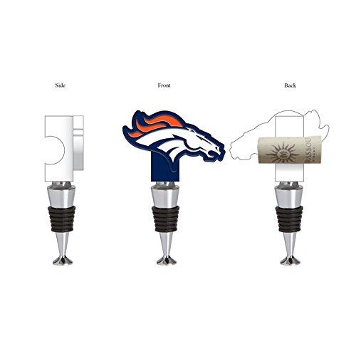 Team Sports America Denver Broncos Hand-Painted Team Logo Bottle Stopper