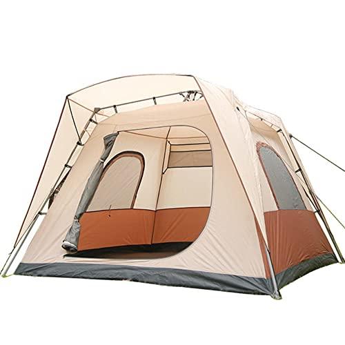 Tienda de Campaña 4-6 Personas, Tienda de Camping Ligero Impermeable Anti Viento, Tienda Domo para Senderismo Excursionismo Trekking Mochileros Montañismo Acampar Escalada Viaje, Fácil de Montar