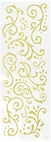 Momenta Stickers Paillettes Doré fioritures, Acrylique, Multicolore