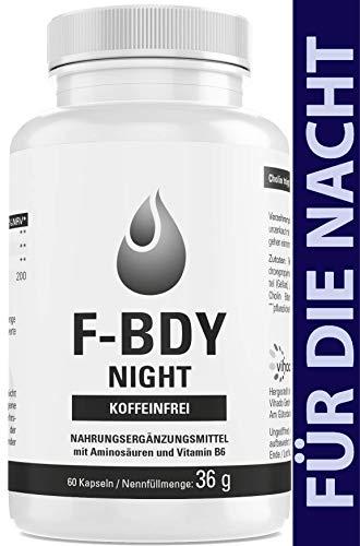 Vihado F-BDY Night – Kapseln für einen normalen Stoffwechsel – koffeinfrei für die Nacht – normaler Fettstoffwechsel mit Cholin – auch für Keto Diät geeignet – für Männer und Frauen – 60 Kapseln