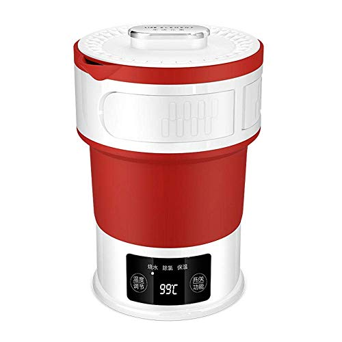 HYISHION Caldera eléctrica Caldera Plegable comprimido Hervidor eléctrico del Recorrido Mini 0.6L-roja SKYJIE