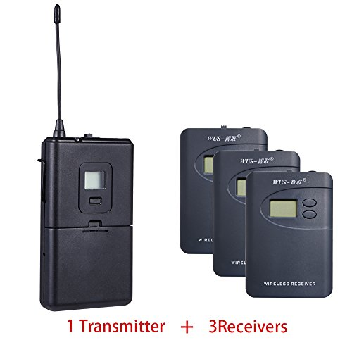 ZLWUS 800R Tour Guide System, UHF794~806MHz Digital AudioGuias y AudioGu¨ªas (1pc Transmisor + 3pc Auricular) para Ense?Anza Visiting and Conference(Gris)